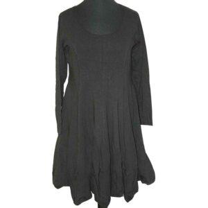 Boris Industries Kleid schwingend schwarz langarm