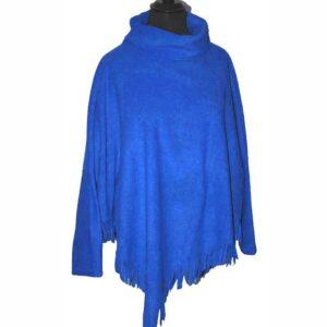 Boris Fleece Shirt azur blau Fransensaum