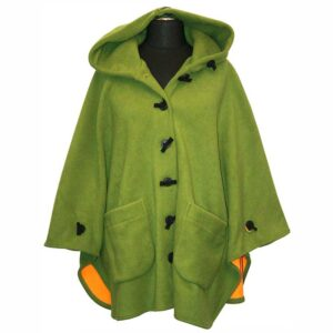 Boris Industries Fleece Cape limonen grün