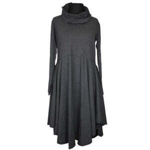 Boris Industries Kleid Tellerrock schwarz weiß Streifen