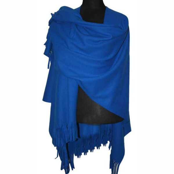 Boris Industries Fleece Poncho azur blau