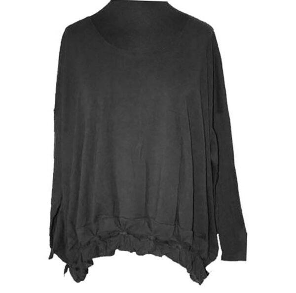 Boris Shirt Knotensaum schwarz