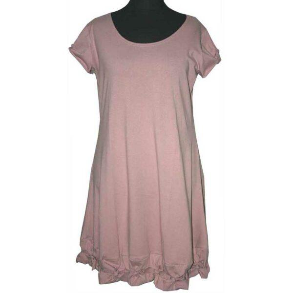 Boris Industries kleid Knotensaum rosa