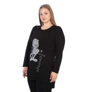 CN-G Jersey Shirt schwarz Garfield grau seite