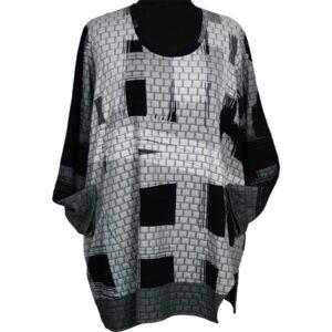 Kischella Design Shirt weiß schwarz