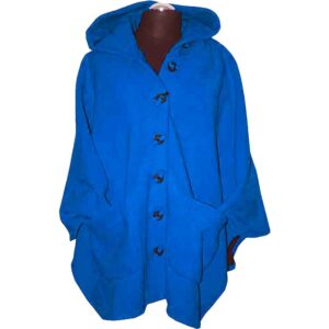 Boris Fleece Cape azurblau vorne