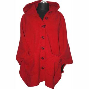 Boris Fleece Cape rot vorne