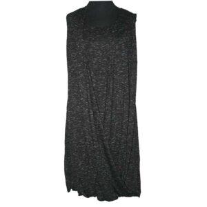 Boris Industries Kleid in Wickeloptik schwarz