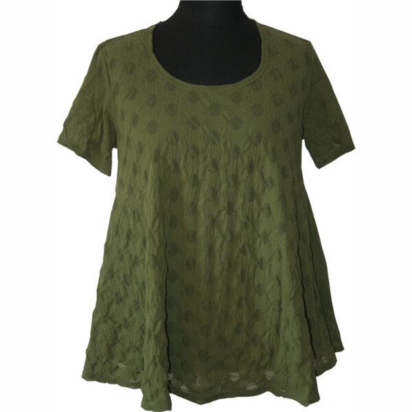 Boris Industries T-Shirt transparent oliv grün