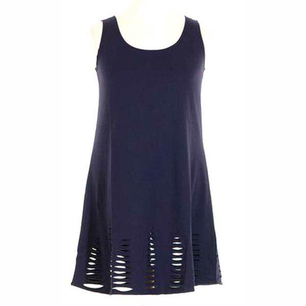 Boris Tunika Kurz Kleid blau