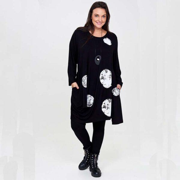 Zedd Plus Shirt schwarz Kreise weiß Vorne