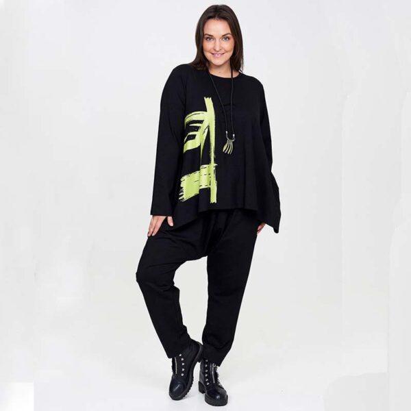 Zedd Plus Shirt schwarz grüner Print