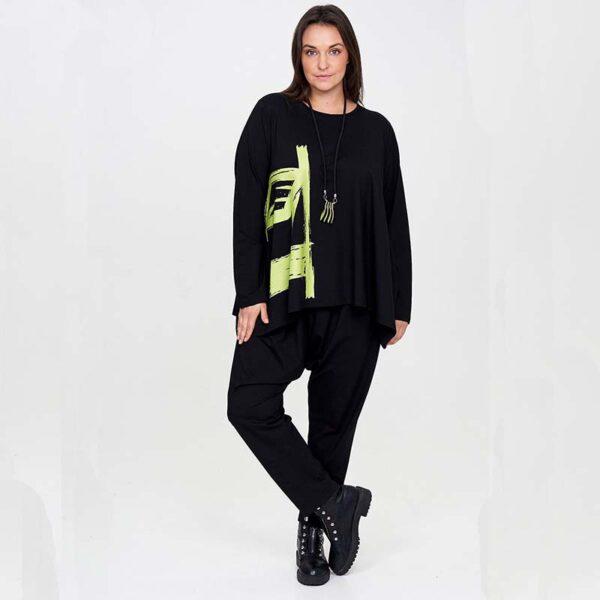 Zedd Plus Shirt schwarz grüner Print Vorne_1