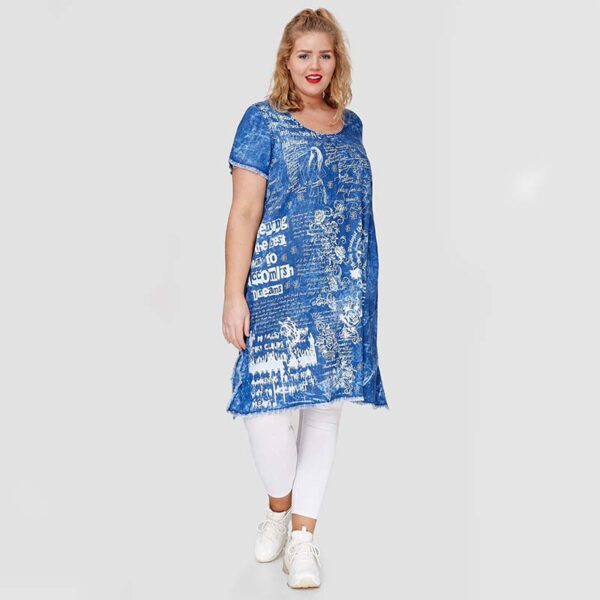 Clin Kleid Jeans Print
