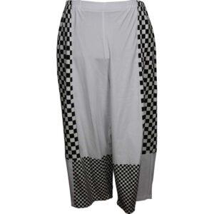 Kischella Design Jersey Hose weiß Schachbrett