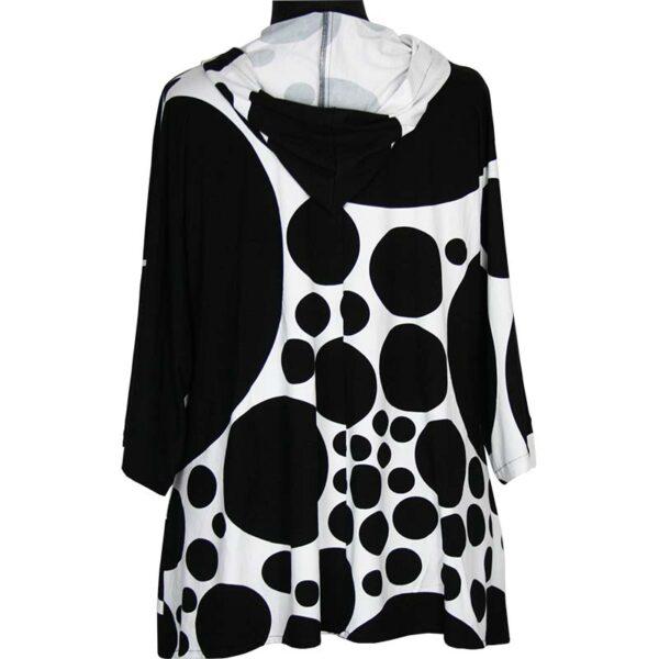 Kischella Design Shirt Kapuze Kreise Hinten