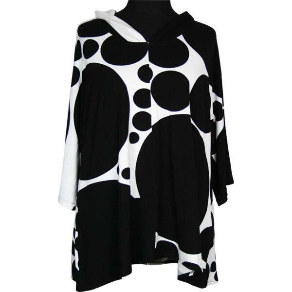 Kischella Design Shirt Kapuze Kreise Vorne