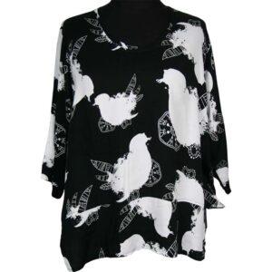 Kischella Design Shirt Vögel Vorne