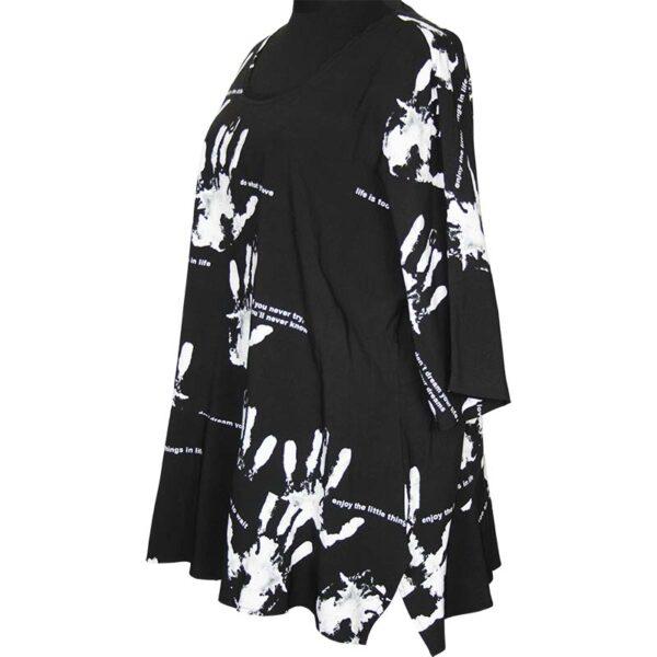 Kischella Design Tunika Hände schwarz Seite