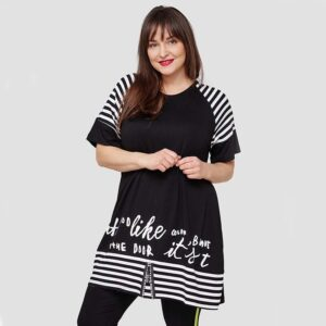 Maxlive Shirt schwarz weiß Vorne