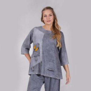 Zedd Plus Jeans Shirt grau