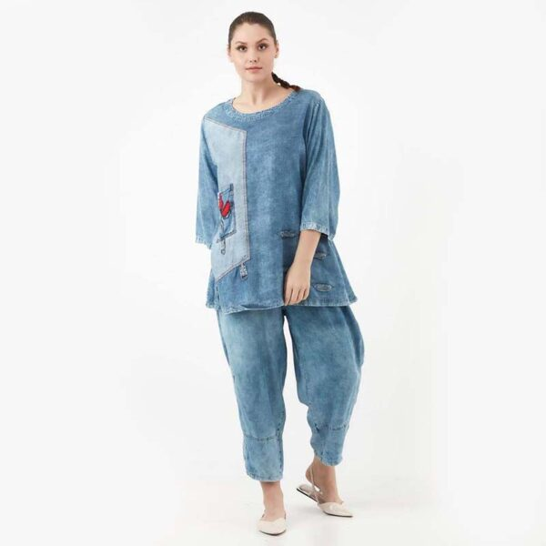 Zedd Plus Jeans Shirt blau