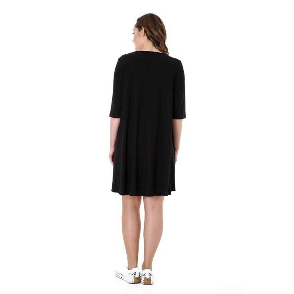 CN-G Kleid Plissee schwarz weiss Hinten