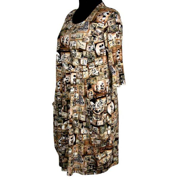 Naveed Kleid Michy Mouse braun Seite