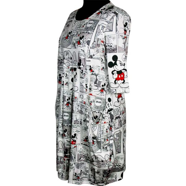 Naveed Kleid Micky Mouse schwarz weiss Seite