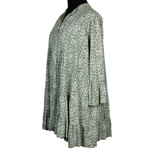 Blusen Tunika oliv Seite