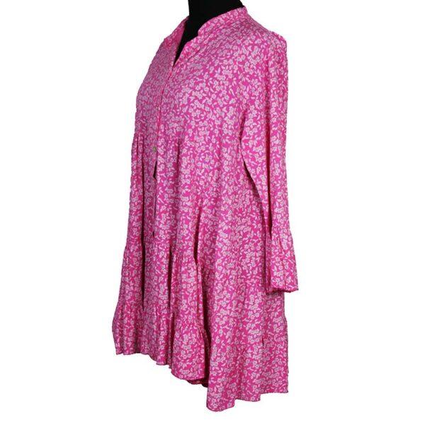 Blusen Tunika pink Seite