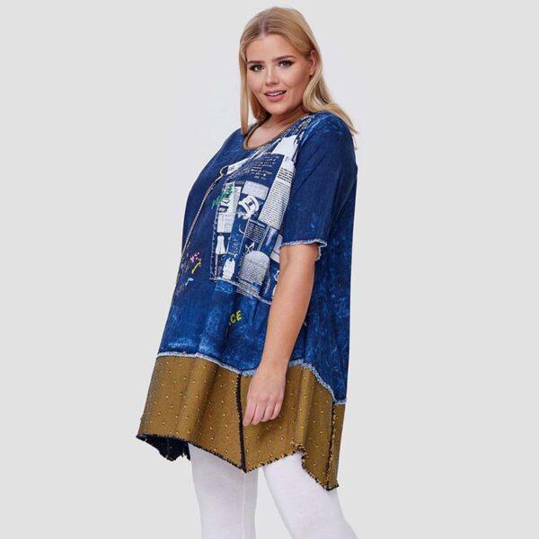 CN-G T-shirt jeans curry Seite