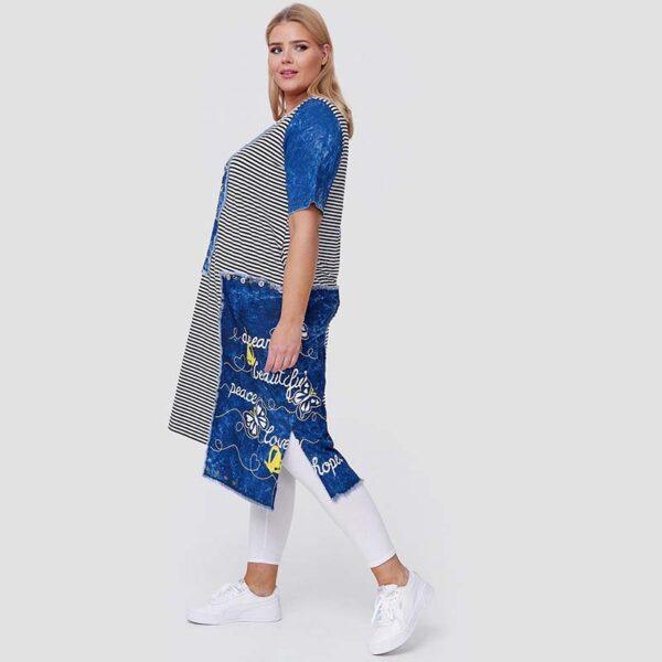 Cleanson Jeans Jersey Kleid Seite