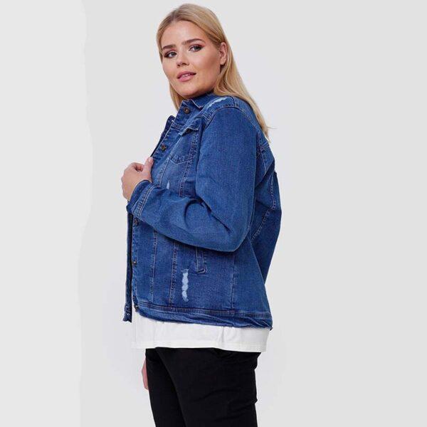 Jeans Jacke blau Seite