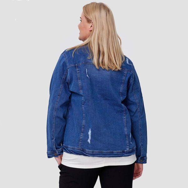 Jeans Jacke blau hinten