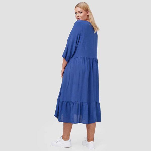 Zedd Plus romantisches Viskose Kleid blau Hinten