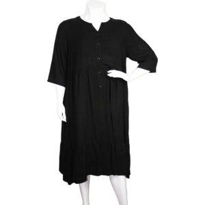 Zedd Plus romantisches Viskose Kleid schwarz Vorne